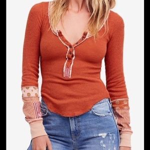Free People We The Free Railroad Henley